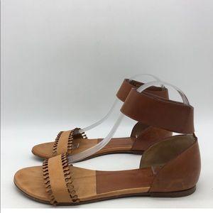 Chloe tan brown leather sandal 7.5